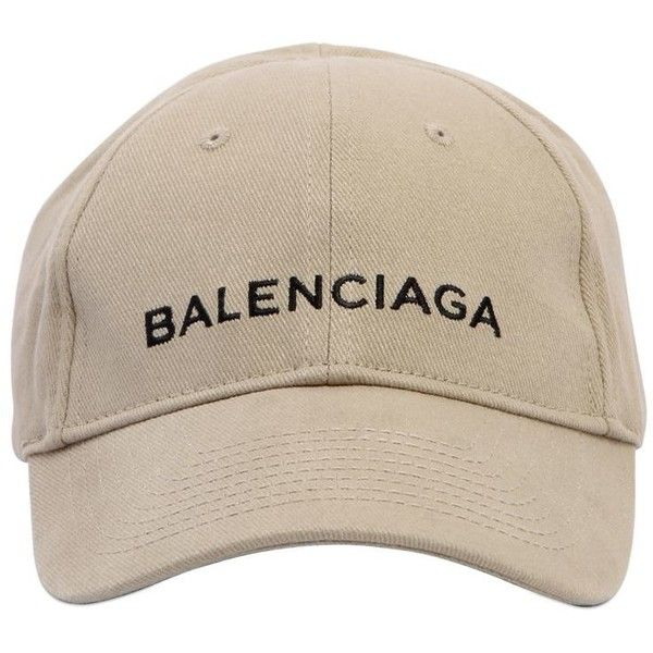 2fe7773625a Balenciaga Women Classic Logo Cotton Hat ( 350) ❤ liked on Polyvore  featuring accessories