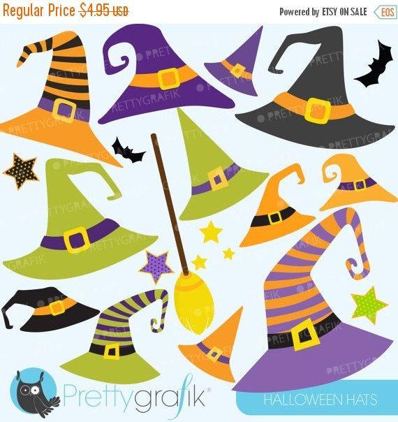 80% OFF SALE Halloween Hats clipart, commercial use, vector graphics, digital clip art, digital images - CL574