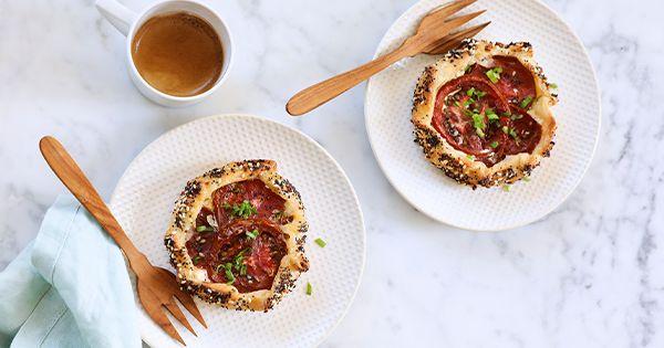 Everything Bagel Tomato Galettes via @PureWow
