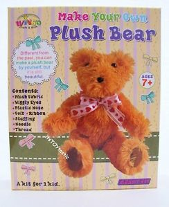 make your own teddy bear template - make your own plush bear soft toy kids sewing craft teddy