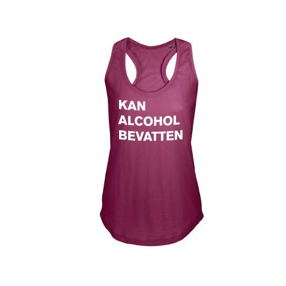 Dames | tanktop Kan alcohol bevatten (800579)