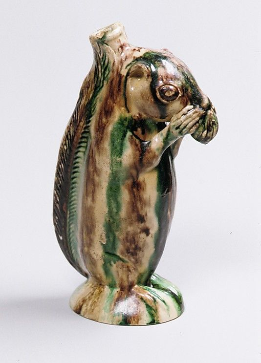 Squirrel Bottle 1790 North Carolina, ceramic. Can anyone tell me what this glaze is called?