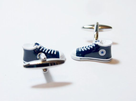 Converse Sneaker Cufflinks by Keepeverybodymovin on Etsy