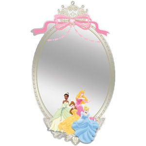Disney - Princess Adhesive Mirror, Large- For their new room