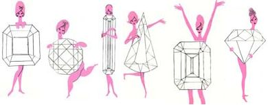 "'50s swimwear design pamphlet: ""Which Jewel Shape is She?"" #vintage"