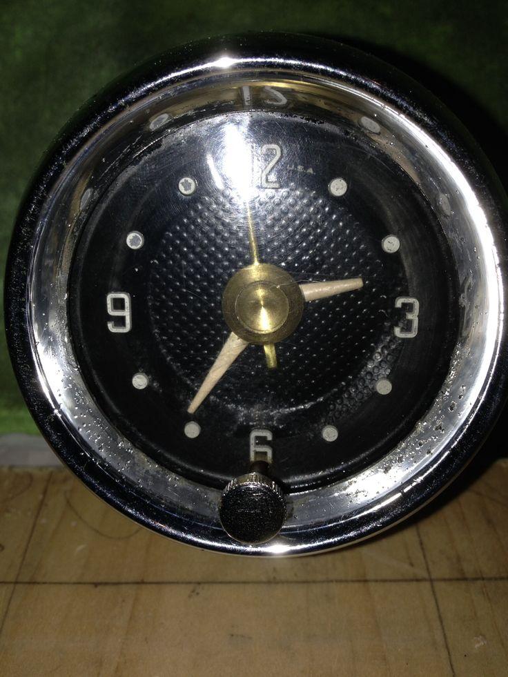 1957 1958 Desoto Firesweep Clock Clock Vintage Car