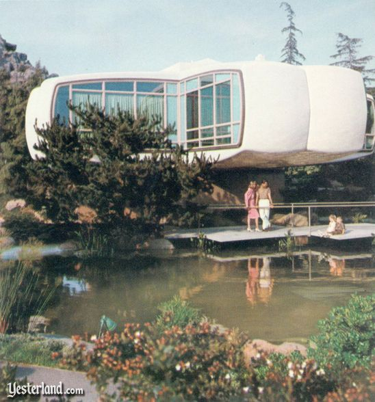 The Monsanto House of the Future was open for mid-century modern futuristic appreciation at Disneyland from 1957-1967. Made of and marketedly highlighting plastics -- shades of the The Graduate, anyone? -- it is said that when scheduled for demolition, the wrecking ball bounced off of it and the walls had to be taken down by a crew with saws. :p