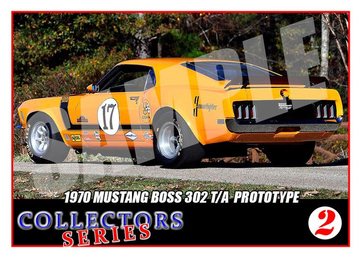 1970 Mustang Boss 302 #17 Trading Card- SCCA Racing Trans Am - Collectors Series | eBay