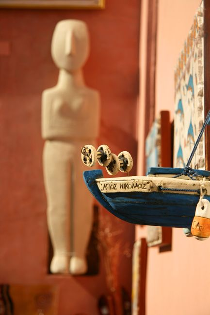 the languages of objects - Santorini, Kyklades