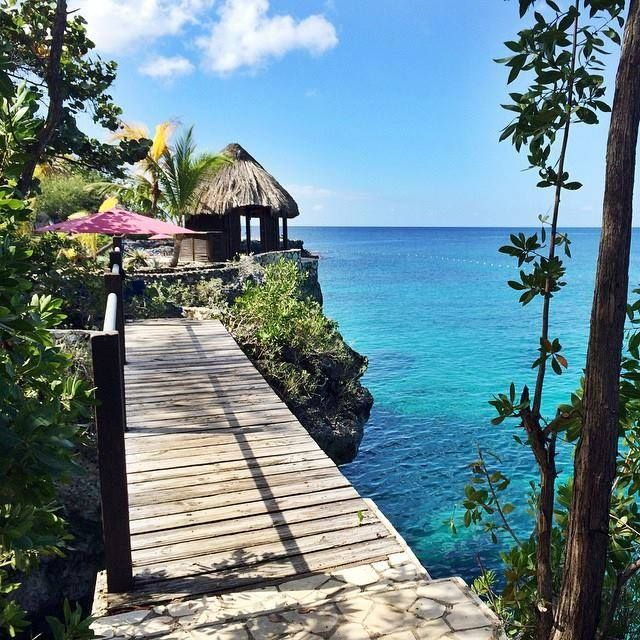 This view is even better in person. Imagine what you could be doing right here, right now! #VisitJamaica — at Rockhouse - Negril, Jamaica.