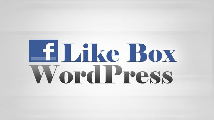 How to show #Facebook #Like Box on #WordPress site.