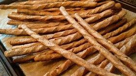 全粒粉に刻み胡桃と粉アーモンドの棒パン