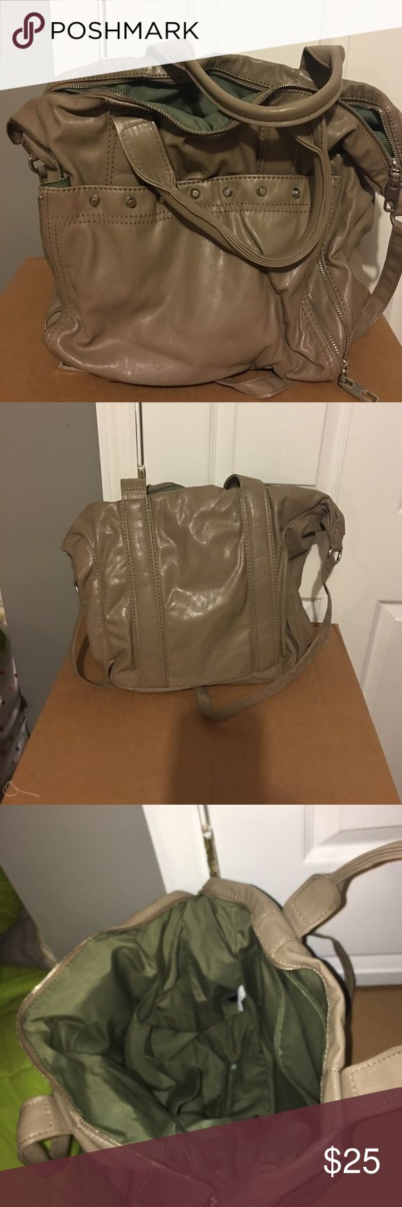 Gap bag Green inside light brown outside. No damage. Great for carrying books. GAP Bags Shoulder Bags