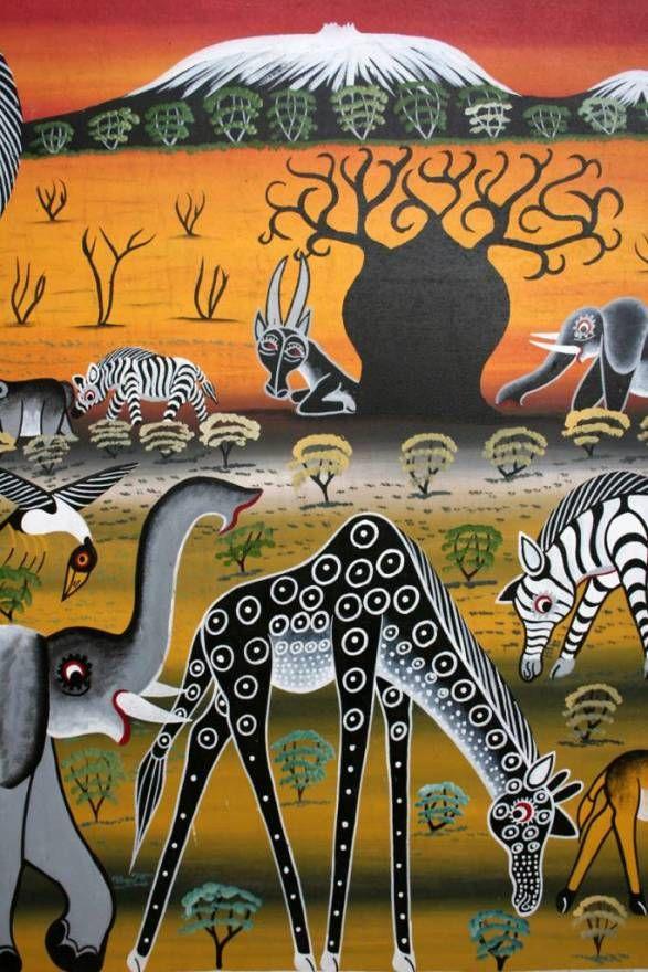 Image detail for -Tinga Tinga Painting - Wildlife Photography