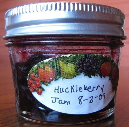 Marlene's Huckleberry Jam.    Tried substituting one cup of brown sugar for one cup of regular - we'll see how it turns out!