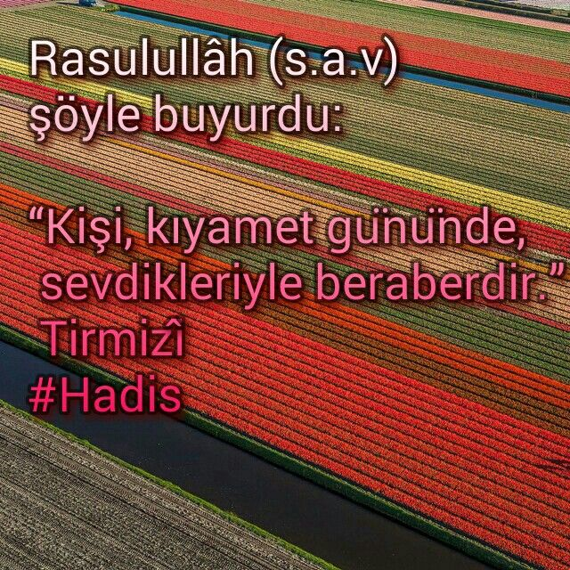 Kişi sevdikleriyle beraberdir.  #Rasûlullah #kıyamet #Hadis