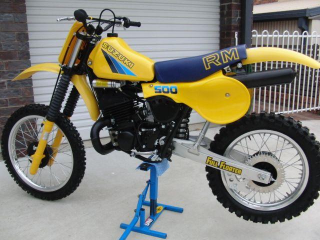 Blue Suzuki Dirt Bike
