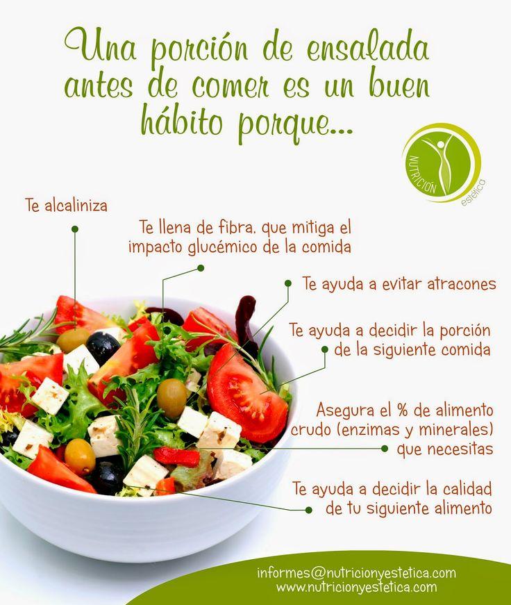 Nutricion Estetica: UNA PORCIÓN DE ENSALADA SALUDABLE. NUTRICIONISTA L...