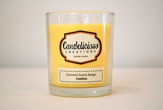 Soy Wax Cookies Scented Candle Jar  Common by CandeliciousCreation, $15.00