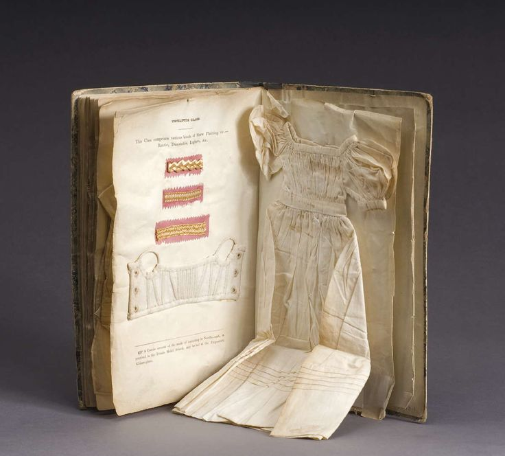 NEEDLEWORK INSTRUCTION BOOK WITH SAMPLES FROM THE FEMALE MODEL SCHOOL, KILDARE PLACE, DUBLIN, IRELAND, 1833-37.