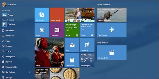 How to Add, Remove, and Customize Tiles on the Windows 10 Start Menu