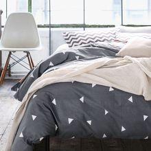 Contagem de alta densidade de algodão capas de Edredão set, jogo de cama Preto, Duplo único capas de edredão Twin/Queen/King size, lençóis # HM4515(China (Mainland))