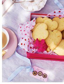 Orange and almond shortbread hearts | Yummm | Pinterest