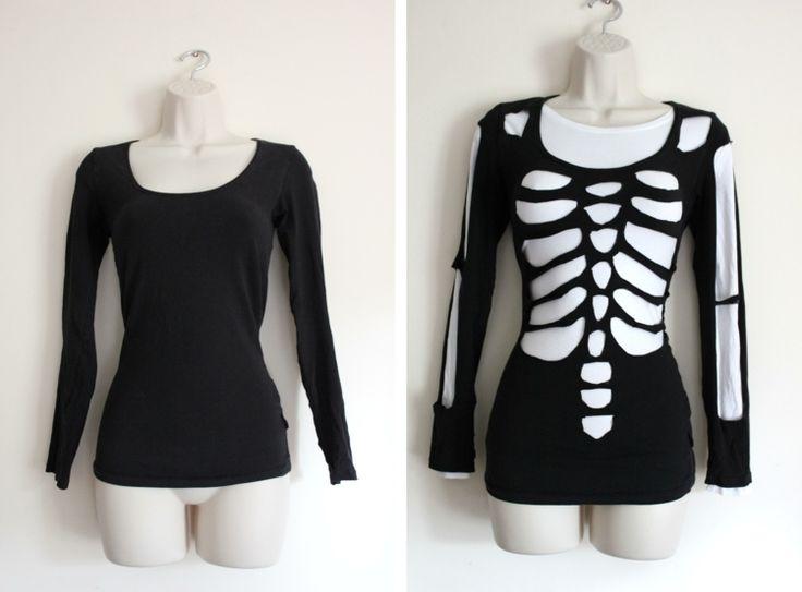 Zu Halloween ein Skelett gestalten
