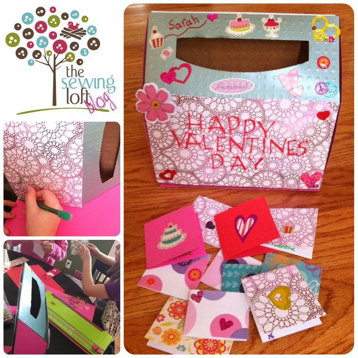 valentine's day mailbox for cards made from kleenex box