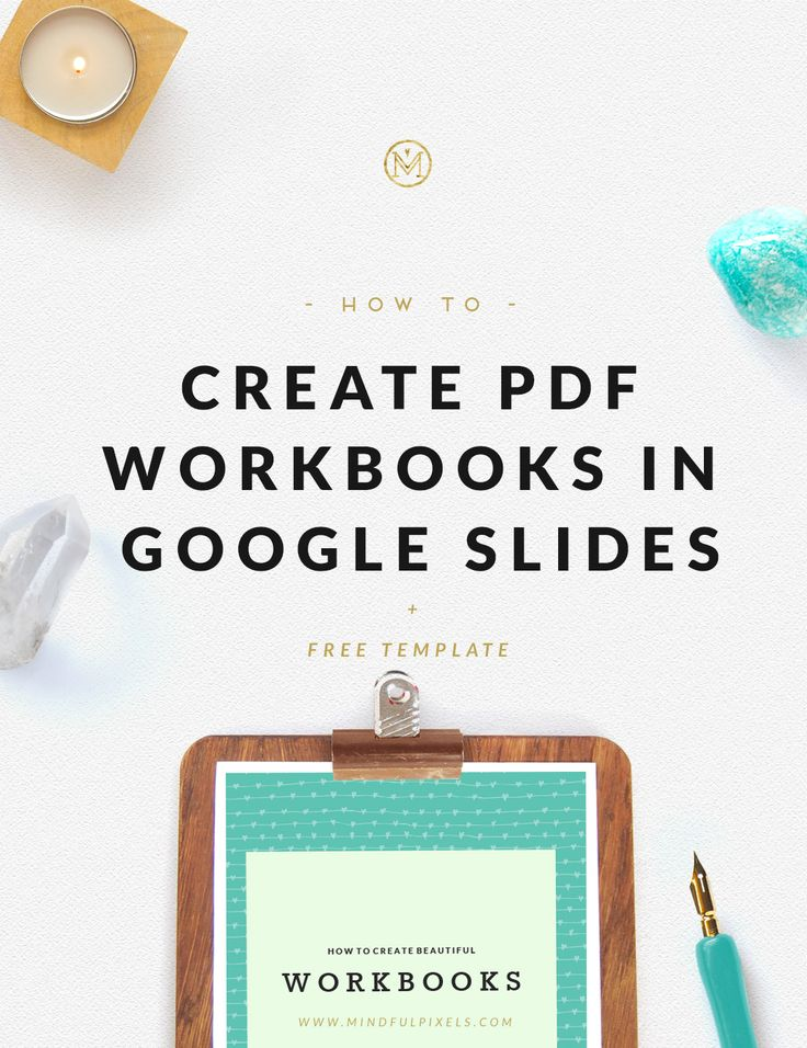 Create PDF Workbooks in Google Slides