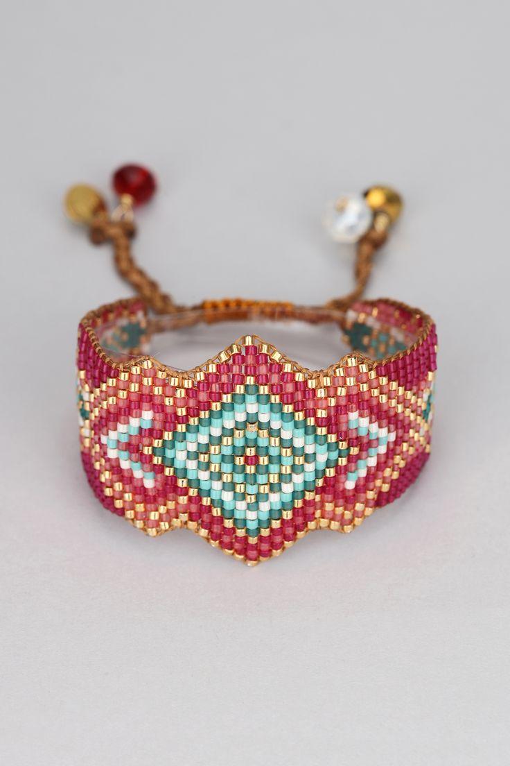 Bracelet perles rouges Rocky Be