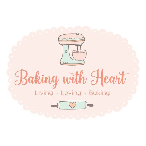 Premade Logo - Mixer & Rolling Pin Baking Premade Logo Design & Blog Header - Customized with Your Business Name!