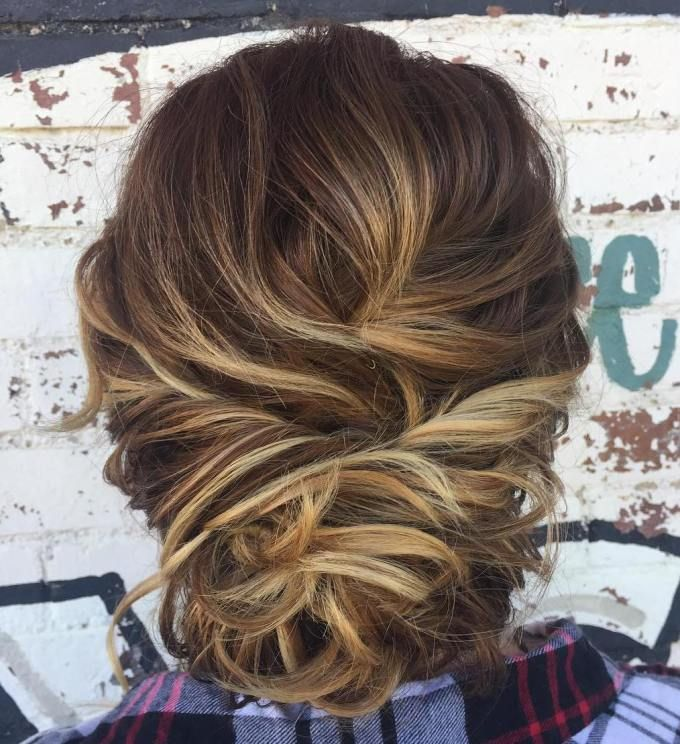 50 Hottest Prom Hairstyles For Short Hair Loose Buns