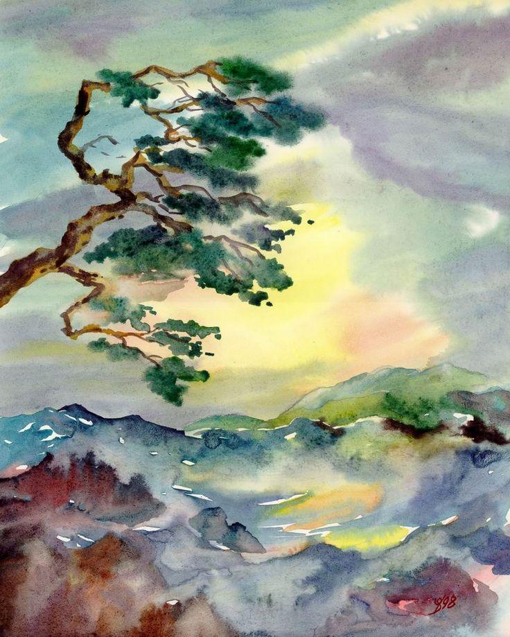 Best 25 japanese watercolor ideas on pinterest koi art for Japanese watercolor paintings