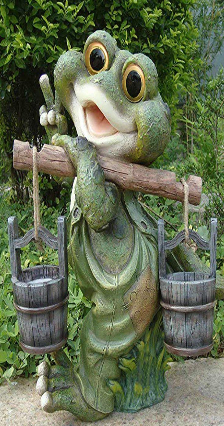 Lustiger Frosch Xxl 40 Cm Hoch Deko Garten Gartenzwerg Figuren Dekoration Gartenzwerg Xxl Garten Dekoration