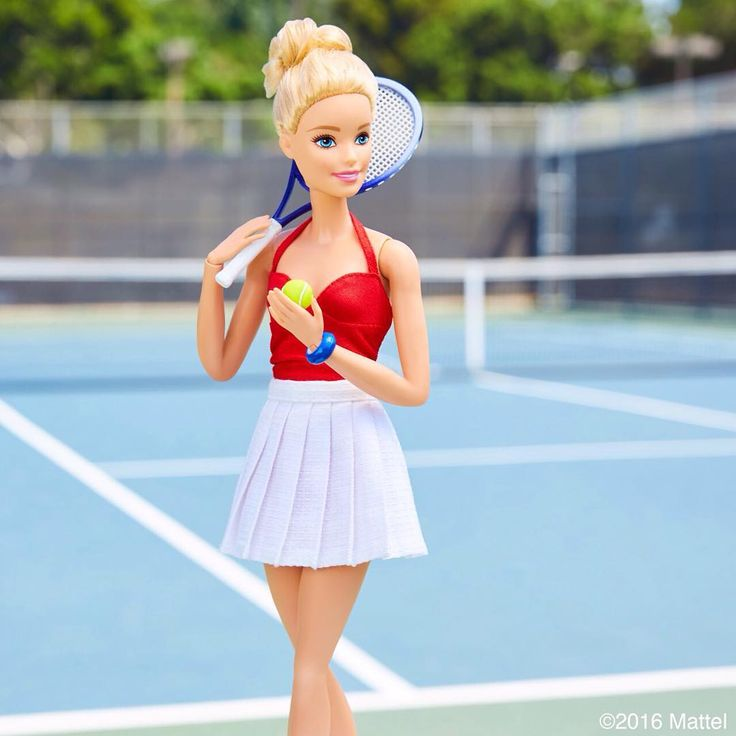 Sporting my tennis red, whites and blue! 🎾 #barbie #barbiestyle