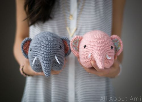 Crocheted elephant - All about Ami PART TWO