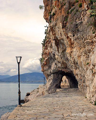 The 'tunnel' along #Arvanitia walk in #Nafplio, #Greece