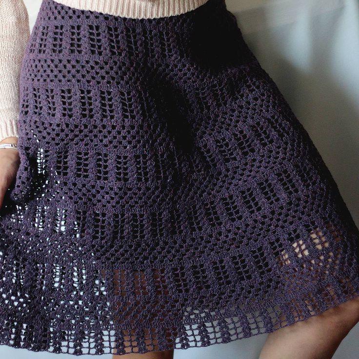 #ptasha_crochet Юбка в процессе. Сейчас вяжу 6 повтор. На рост 171, длина уже…
