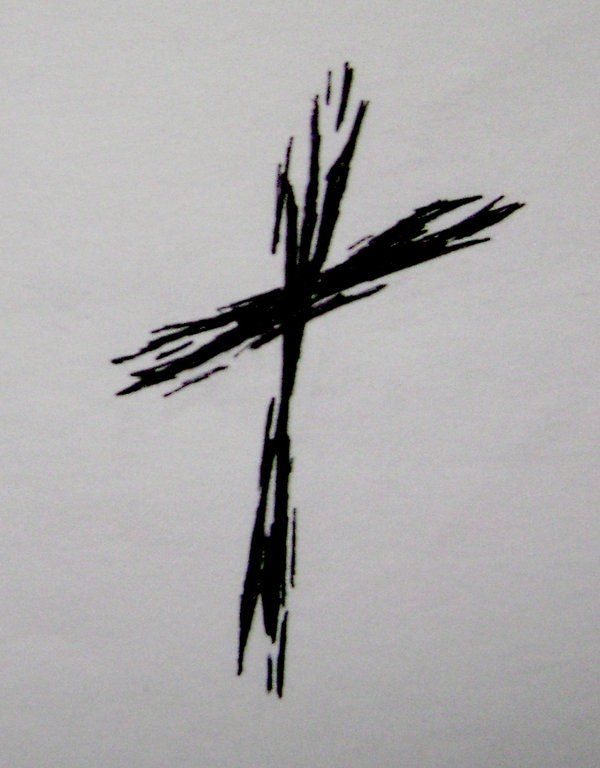 Rough Cross Tattoo by ~typowilliams on deviantART  I would want to add Jesus behind it in UV ink