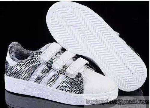 Kid's Adidas Superstar Running Shoes Skateboard Shoes White Silvery Grid #cheapshoes #sneakers #runningshoes #popular #nikeshoes #authenticshoes