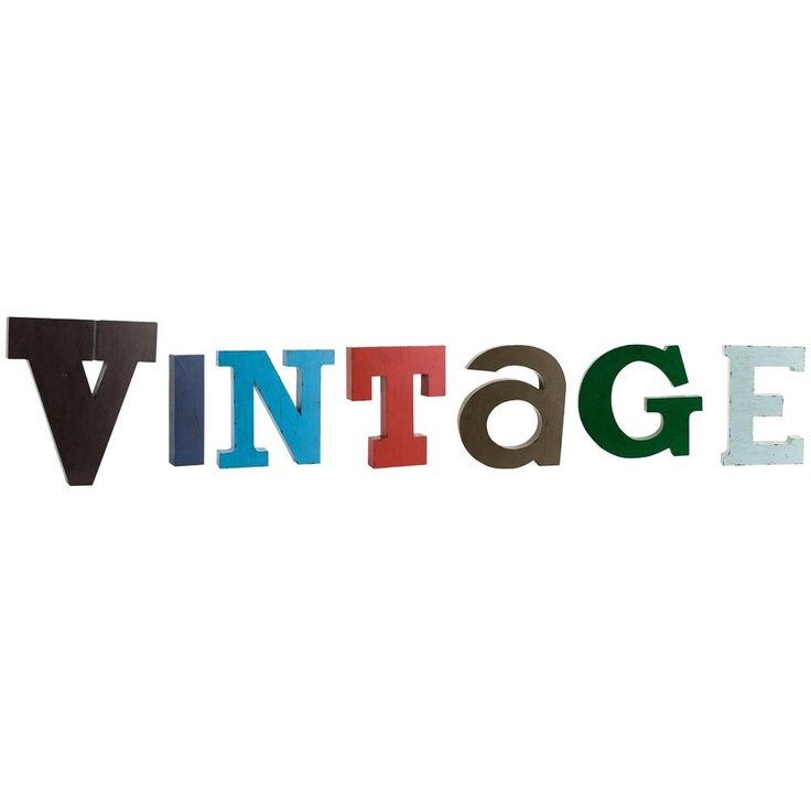 Lettere in metallo Vintage