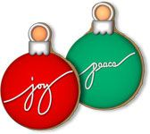 Decorated Ornament Cookie Favors -- could make them into creative place cards, too.