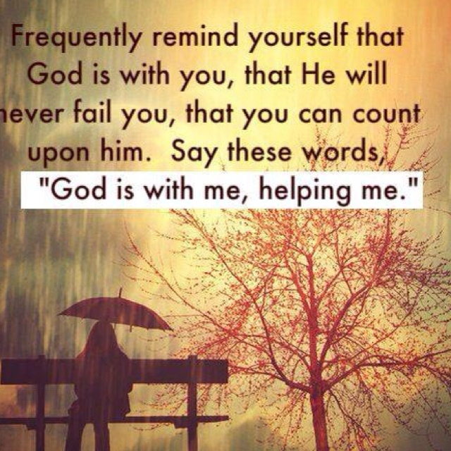 Yes He is always with us :)