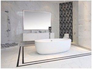 White Polished Porcelain Floor Tiles Bathroom     www.ceramicyhh.com