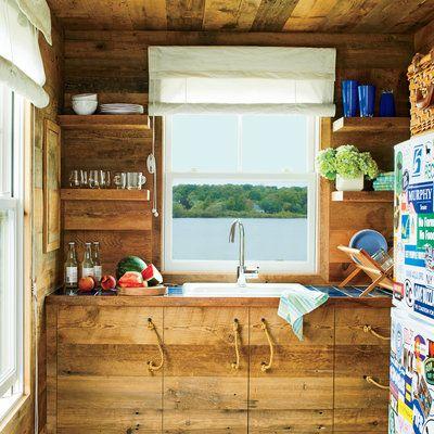 5 Tiny Coastal Cottages Open Shelving Coastal Cottage