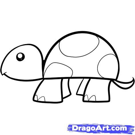 drawings for children on how to draw a turtle for kids step - Kids Simple Drawings