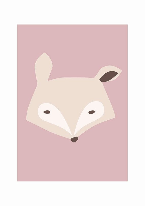 KIM - Fox - Print of my original illustration for kids room