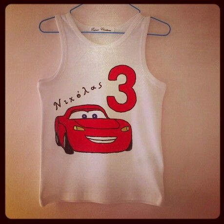 McQueen birthday top