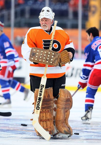 Bernie at the Winter Classic Alumni game.  Awesome!